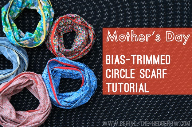 Bias-trimmed circle scarf TUTORIAL \\ Behind the Hedgerow