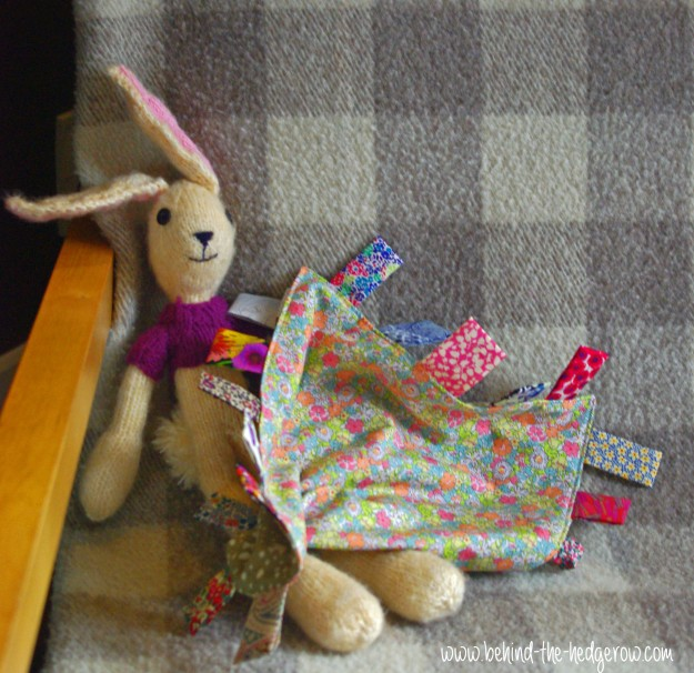 taggie tutorial - on chair with rabbit