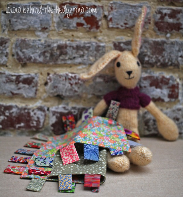 taggie tutorial - with rabbit outside