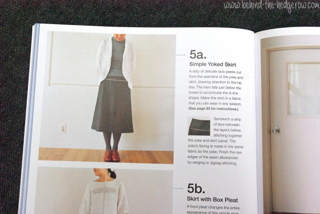 renfrew top - yoked skirt - sewing book skirt pic