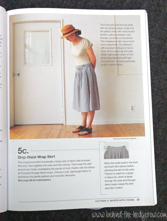 renfrew top - yoked skirt - sewing book wrap skirt pic