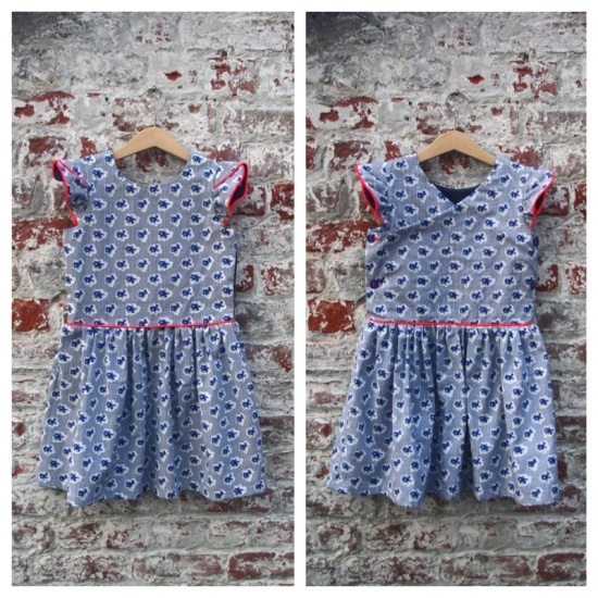 Straightgrain's Hanami dress \\ Behind the Hedgerow
